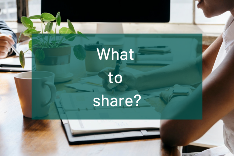 What to share
